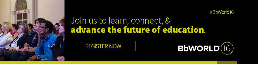 Join us at BbWorld to learn, connect, and advance the future of education
