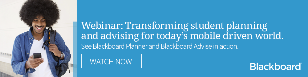 Click to see an on-demand webinar of Blackboard Planner in action.