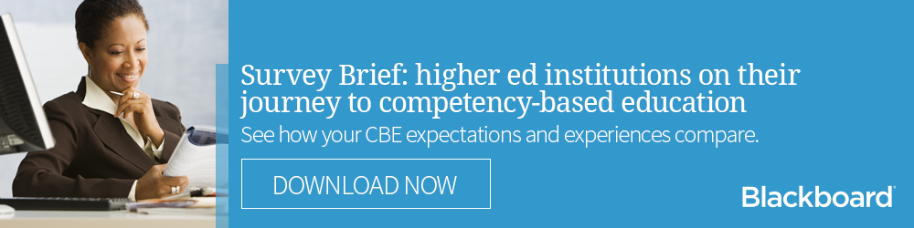 Survey Brief: higher ed institutions on their journey to CBE