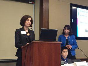 Stephanie Weeks speaking at the Speak Up Congressional Briefing