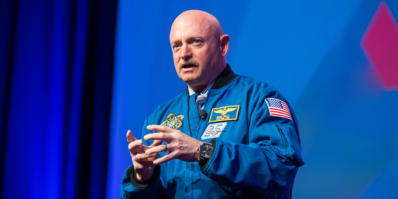 Captain Mark Kelly speaking