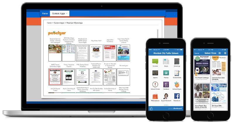 peachjar screenshot on web and mobile