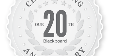 Blackboard 20th Anniversary Logo