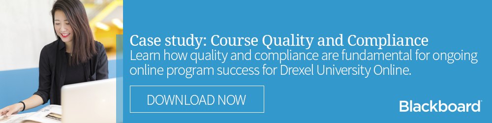 Case study: online learning course quality and compliance with accessibility standards