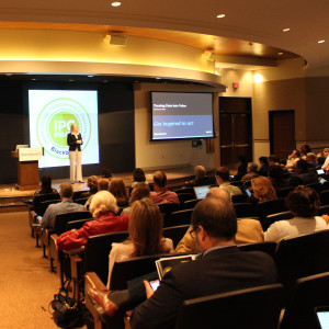 Katie Blot, SVP of Corporate Strategy at Blackboard, speaking at the Institutional Performance Conference