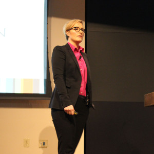 Bridget Burns speaking at IPC
