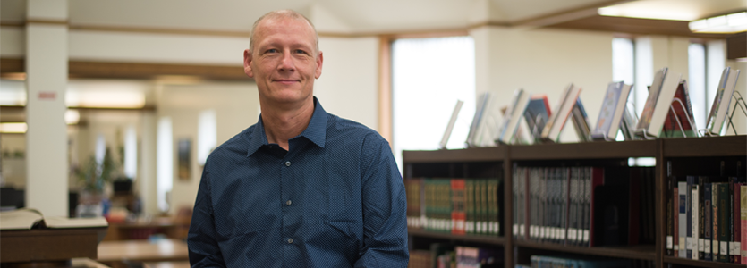 Photo Dennis Krieb, Director of Institutional Research and Library Services at Lewis and Clark Community College.