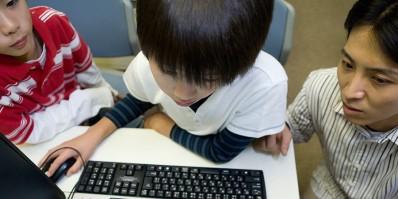 K12 students at computer