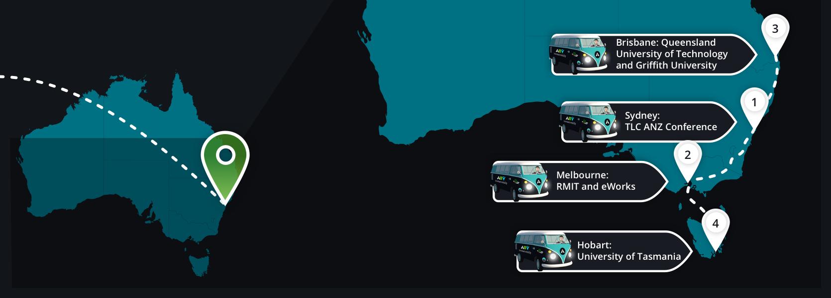 Blackboard Ally Tour Australia
