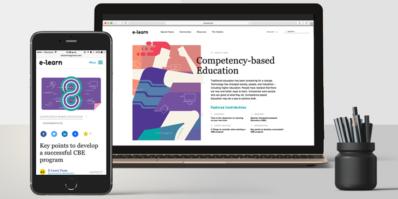 Screenshot of E-Learn Magazine